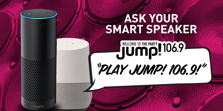 Ask Your Smart Speaker to Play JUMP! 106.9
